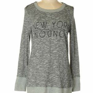 Tunic Sweater with New York London Zipper Shoulder